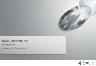 Financial  Restructuring Valerio Ranciaro  La Sapienza � 13 maggio 2013