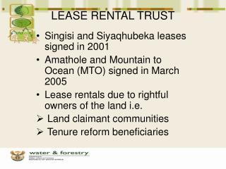 LEASE RENTAL TRUST
