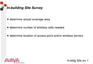 In-building Site Survey