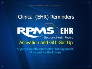 Clinical (EHR) Reminders