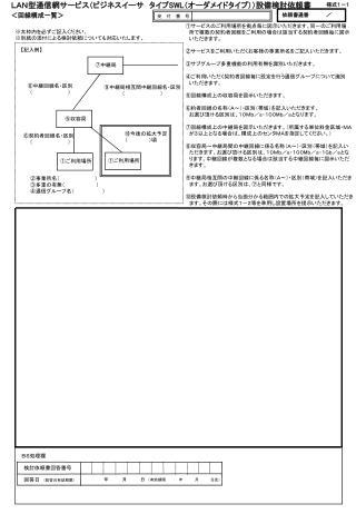 LAN型通信網サービス(ビジネスイーサ タイプ SWL (オーダメイドタイプ))設備検討依頼書 <回線構成一覧>