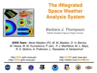 The iNtegrated  Space Weather Analysis System