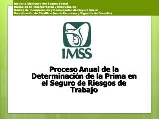 Proceso Anual de la Determinación de la Prima en el Seguro de Riesgos de Trabajo