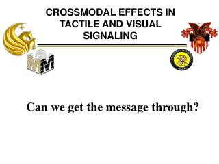 CROSSMODAL EFFECTS IN TACTILE AND VISUAL SIGNALING