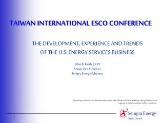 TAIWAN INTERNATIONAL ESCO CONFERENCE
