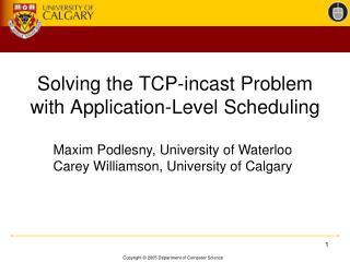 Solving the TCP-incast Problem with Application-Level Scheduling