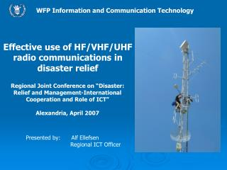 WFP Information and Communication Technology