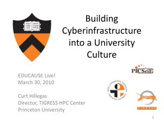 Building Cyberinfrastructure into a University Culture