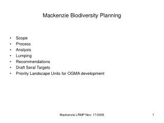 Mackenzie Biodiversity Planning