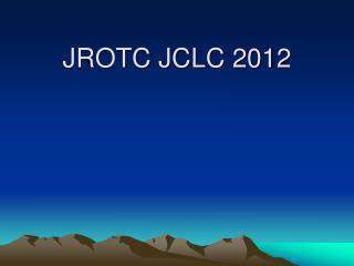JROTC JCLC 2012