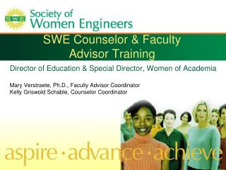 SWE Counselor & Faculty  Advisor Training