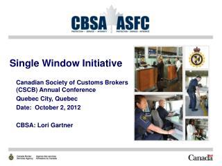 Single Window Initiative