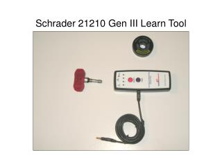 Schrader 21210 Gen III Learn Tool