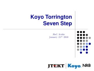 Koyo Torrington  Seven Step
