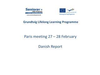 Grundtvig Lifelong Learning Programme