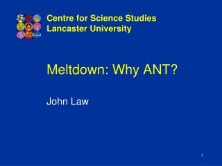 Meltdown: Why ANT?