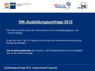IHK-Ausbildungsumfrage 2010