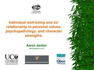 Aaron Jarden aaron@jarden