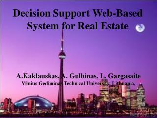 Decision Support Web-Based System for Real Estate