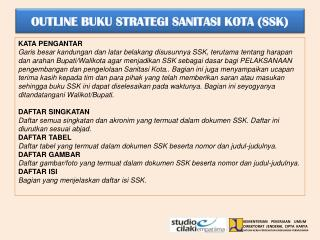 OUTLINE BUKU STRATEGI SANITASI KOTA (SSK)