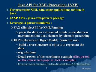 Java API for XML Processing (JAXP)