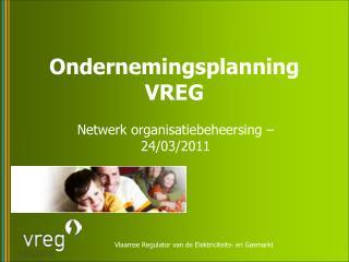 Ondernemingsplanning VREG