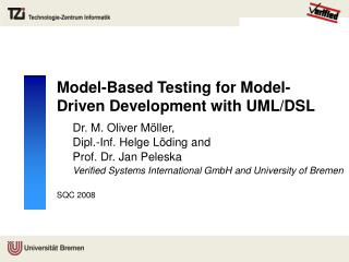Model-Based Testing for Model-Driven Development with UML/DSL