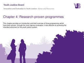 Chapter 4: Research-proven programmes