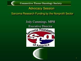 Advocacy Session Sarcoma Research Funding by the Nonprofit Sector
