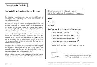 Speech Spatial Qualities