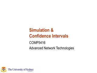 Simulation & Confidence Intervals