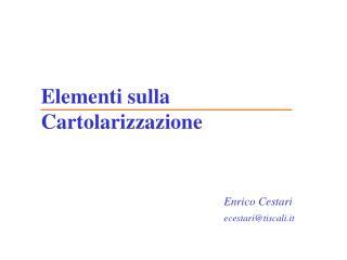 Elementi sulla Cartolarizzazione
