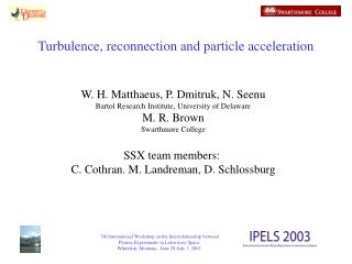 Turbulence, reconnection and particle acceleration