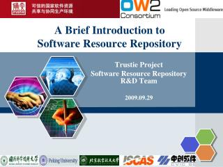 A Brief Introduction to  Software Resource Repository