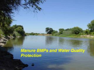 Manure BMPs and Water Quality Protection