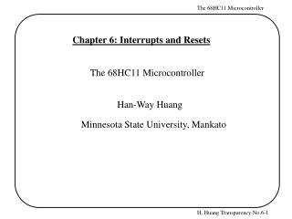 Chapter 6: Interrupts and Resets