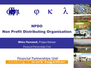 NPDO Non Profit Distributing Organisation