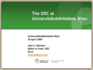 The DDC at Universitätsbibliothek Wien