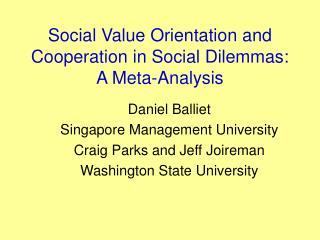 Social Value Orientation and Cooperation in Social Dilemmas: A Meta-Analysis