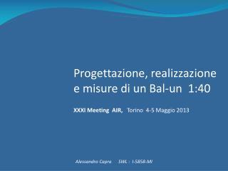 Progettazione, realizzazione e misure di un  Bal-un   1:40