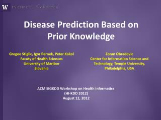 Disease Prediction Based on Prior Knowledge