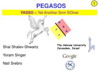 PEGASOS Primal Efficient sub-GrAdient SOlver for SVM
