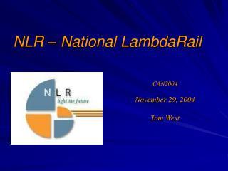 NLR – National LambdaRail