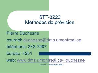 STT-3220 Méthodes de prévision