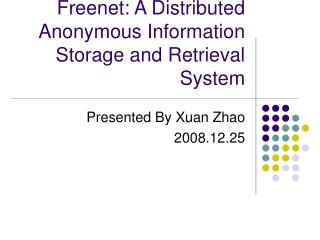 Freenet: A Distributed Anonymous Information Storage and Retrieval System