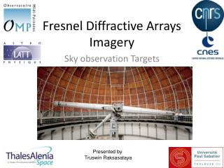 Fresnel Diffractive Arrays Imagery