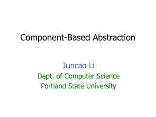 Component-Based Abstraction