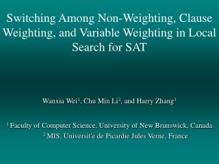 Switching Among Non-Weighting, Clause Weighting, and Variable Weighting in Local Search for SAT