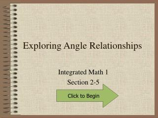 Exploring Angle Relationships