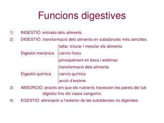 Funcions digestives